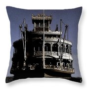 A Steamboat Coming Throw Pillow