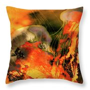 A Sting Like Fire Throw Pillow