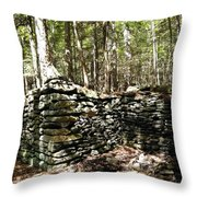 A Stone Structure In The Berkshire Hills Throw Pillow