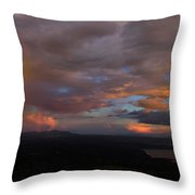 A Storm At Sunset Throw Pillow