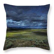 A Storm Builds Up Over A Colorado Throw Pillow