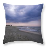 A Storm Sky Gathers At Kitty Hawk Throw Pillow