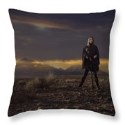 A Storms Brewing Throw Pillow
