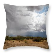 A Stormy Desert Sky Throw Pillow