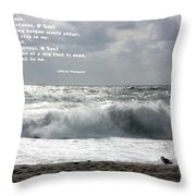 A Stormy Morning Throw Pillow