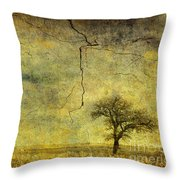 A Stormy Spring Throw Pillow