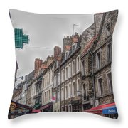A Street In Boulogne Throw Pillow