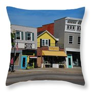 A Street In Perrysburg I Throw Pillow