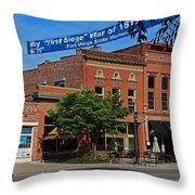 A Street In Perrysburg IIi Throw Pillow