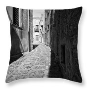 A Street In Sicily Throw Pillow