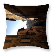 A Street In Siena  Throw Pillow
