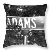 Ad - A Street Sign Named Adams Throw Pillow