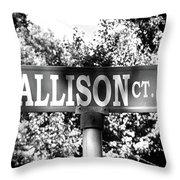 Al - A Street Sign Named Allison Throw Pillow