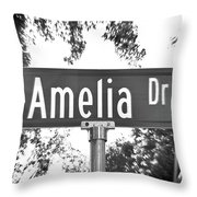 Am - A Street Sign Named Amelia Throw Pillow