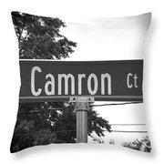 Ca - A Street Sign Named Camron Throw Pillow