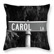 Ca - A Street Sign Named Carol Throw Pillow