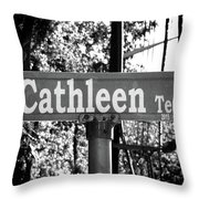 Ca - A Street Sign Named Cathleen Throw Pillow