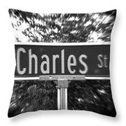 Ch - A Street Sign Named Charles Throw Pillow
