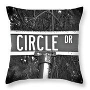Ci - A Street Sign Named Circle Throw Pillow
