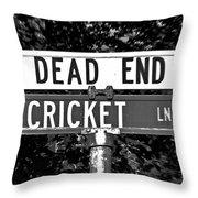 Cr - A Street Sign Named Cricket Throw Pillow