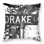 Dr - A Street Sign Named Drake Throw Pillow