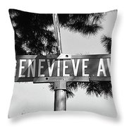 Ge - A Street Sign Named Genevieve Throw Pillow