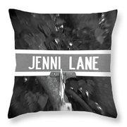 Je - A Street Sign Named Jenni Throw Pillow