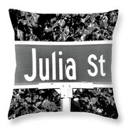 Ju - A Street Sign Named Julia Throw Pillow