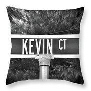 Ke - A Street Sign Named Kevin Throw Pillow