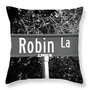Ro - A Street Sign Named Robin Throw Pillow