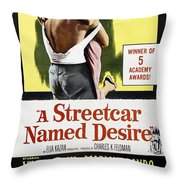 A Streetcar Named Desire Portrait Poster Throw Pillow