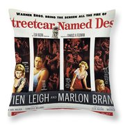 A Streetcar Named Desire Wide Poster Throw Pillow