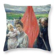 A Strike At Saint Ouen Throw Pillow