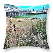 A Stroll At The Seaside  Throw Pillow