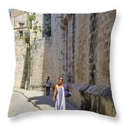 A Stroll By The Cathedral Throw Pillow