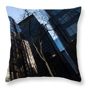 A Study In Contrasts - Downtown Toronto Miniature Park - Left Throw Pillow