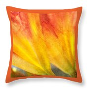 A Study In Red And Yellow Throw Pillow