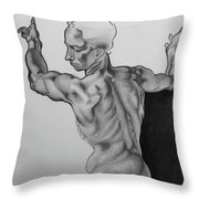 A Study Of Michelangelo Work Throw Pillow
