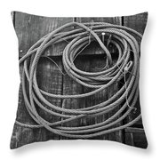A Study Of Wire In Gray Throw Pillow