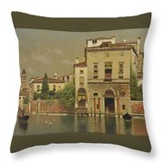 A Sultry Day In Venice Throw Pillow