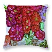 A Summer Bouquet Throw Pillow