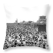 A Summer Day At Coney Island Throw Pillow