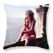 A Summer Delight Throw Pillow