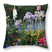 A Summer Garden Throw Pillow