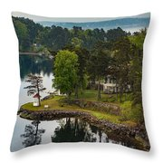 A Summer Retreat Throw Pillow
