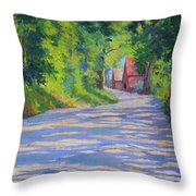 A Summer Road Throw Pillow
