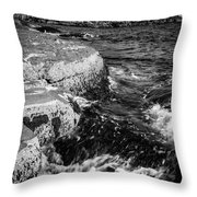 A Summer's Day At Nubble Light, York, Maine  -67969-bw Throw Pillow