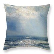 A Sunbeam Over The Sea Throw Pillow