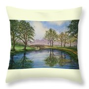A Sunday Stroll Throw Pillow