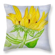 A Sunflower Blessing Throw Pillow
